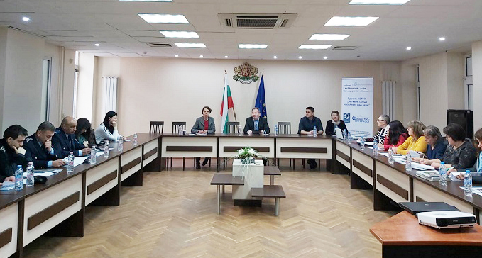 Уъркшоп за обсъждане на мониторингова система на публични политики и практики с представители на съд, прокуратура, полиция и социални служби от област Силистра