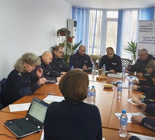 Фокус група за изследване на нагласите на полицаите по темата за домашно насилие за област Силистра